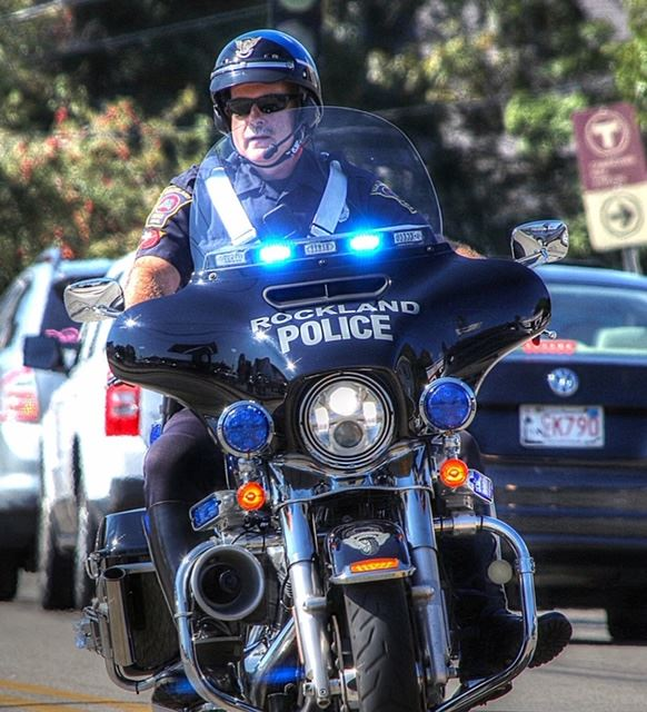Officer on a Police Motorcycle