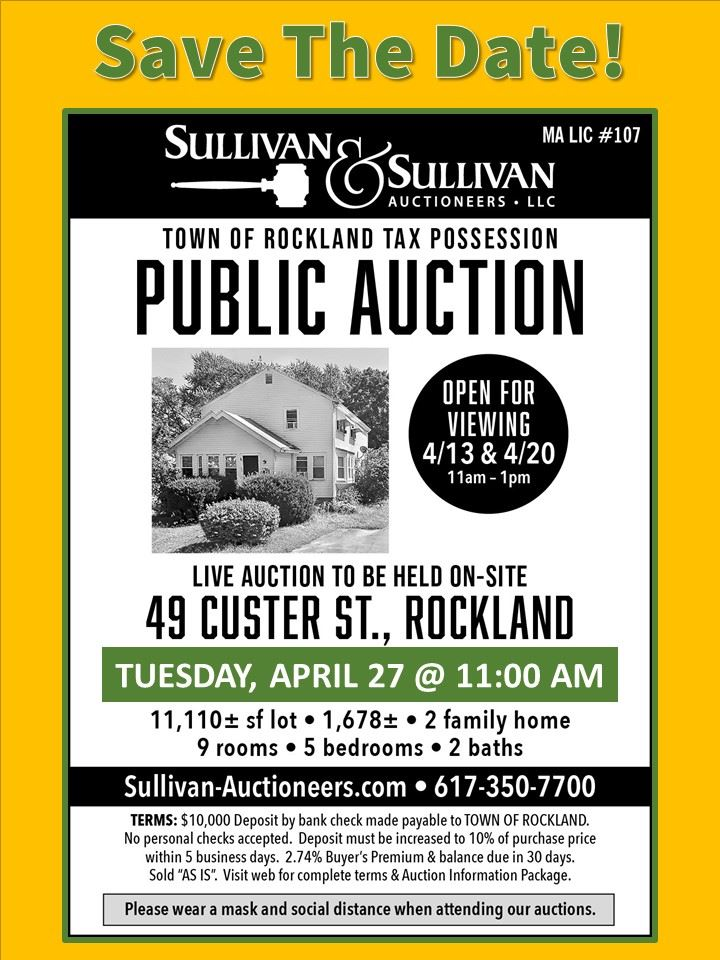 49 Custer Street Auction Flyer